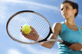Woman Playing Tennis Stock Photos - 65102773