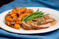 Pork Tenderloin And Gnocchi Royalty Free Stock Image - 65107176