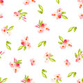 Pattern With Little Pink Flowers Royalty Free Stock Photo - 65118985