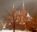 Christmas (New Year Holidays) Illumination And State Historical Museum At Night, Red Square In Moscow, Russia Stock Photo - 65124570