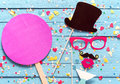 Party Fun With Photo Booth Accessories Stock Photo - 65126890