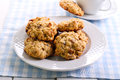 Oatmeal And Raisin Cookies Stock Image - 65132351