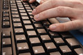 Typing On A Keyboard Stock Photo - 65137400