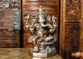 Bronze Statue Of Hindu God Ganesh On Indian Market Royalty Free Stock Photography - 65139017