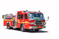 Red Fire Truck Isolated Stock Images - 65144274
