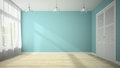 Empty Room With Blue Wall 3D Rendering Stock Images - 65169304