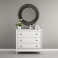 Part Of  Interior With Stylish Commode 3D Rendering Stock Images - 65169954