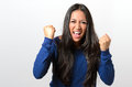 Frustrated Young Woman Baring Her Fists Stock Images - 65172014