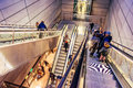 Every Day People Use Escalators In Copenhagen, Denmark, To Go Down To The Train Station Stock Photography - 65172272
