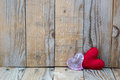 Two Red Hearts On A Wooden Background Royalty Free Stock Photos - 65175278