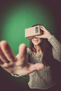 Cardboard Virtual Reality Royalty Free Stock Images - 65176479