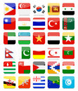 Asian Flags Flat Square Icon Set 2 Royalty Free Stock Images - 65198539