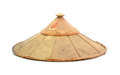 Old Chinese Conical Straw Hat Isolated On White Stock Image - 65213321