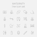 Maternity Icon Set Stock Image - 65216601