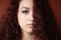 Sullen Girl With Natural Curly Hair Royalty Free Stock Images - 65220969
