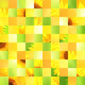 Seamless Background With Sunflower Patterns Stock Images - 65222404