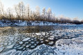 The Ice Block In The River Royalty Free Stock Image - 65223806