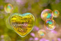 Happy Valentines Day Card, Soap Bubble Royalty Free Stock Photography - 65224337