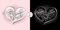 Humorous Calligraphic Postcard For Valentine S Day And Valentine Stock Photos - 65224393