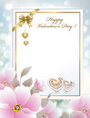 Greeting Card With Flowers And Hearts On Valentine S Day Stock Photo - 65227650