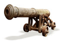 Old Cannon On White Background Stock Photography - 65237112