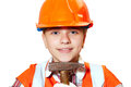 Young Contractor And Hammer Royalty Free Stock Photo - 65237545