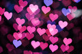 Background Of Pink Hearts Stock Images - 65240974