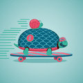 Fast Turtle And Snail Stock Photography - 65242922
