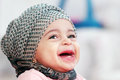 Laughing Arab Muslim Baby Girl Stock Images - 65247614