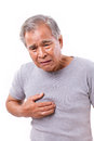 Sick Old Man Suffering From Heartburn, Acid Reflux Royalty Free Stock Images - 65278469