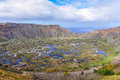View Of Rano Kau Volcano Crater On Easter Island, Chile Stock Images - 65287004