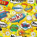 Comic Speech Bubbles Seamless Pattern Vector Royalty Free Stock Image - 65298876