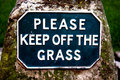 Please Keep Off The Grass Royalty Free Stock Photography - 6533307