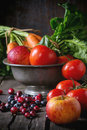 Mix Of Fruits, Vegetables And Berries Stock Photo - 65303110