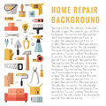 Home Repair And Construction Multicolored Flat Vertical Vector Background With Place For Your Text. Modern Minimalistic Design. Stock Images - 65317664