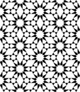 Vector Modern Seamless Sacred Geometry Pattern Stars, Black And White Abstract Royalty Free Stock Images - 65320189