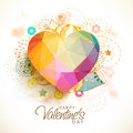 Colorful Origami Heart For Valentine S Day. Stock Photography - 65341382