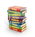 Render Of Stack Old Colorful School Books Stock Images - 65343684