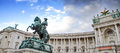 Vienna Hofburg Imperial Palace,Entrance (Michaelertor) With Sculpture Emperor Joseph II In Vienna, Austria. Royalty Free Stock Photography - 65352337