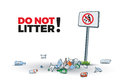 No Littering Sign And Waste Stock Photos - 65359893