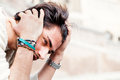 Anxiety Concept. Young Man With Problems, Despair Stock Photography - 65363342