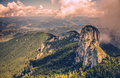 Amazing Panorama View In Ceahlau Mountains In Romania Royalty Free Stock Images - 65376309