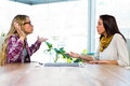 Two Girls Work At Office Stock Photography - 65392792