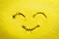 Happy Yellow Smile Face Royalty Free Stock Photo - 65398965