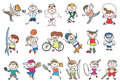 Kids Sport Activity Vector Stock Photography - 65407712