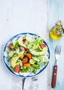 Healthy Avocado And Vegetables Salad With Radish,onions,lettuce Stock Photos - 65429603
