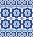 Portuguese Azulejo Tiles. Seamless Patterns. Stock Photography - 65434242