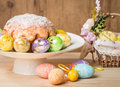 Easter Cake And Eggs Royalty Free Stock Photography - 65437437