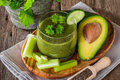 Healthy Green Juice Smoothie Royalty Free Stock Photos - 65437778