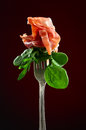 Jamon With Spinach And Arugula Stock Photo - 65453380